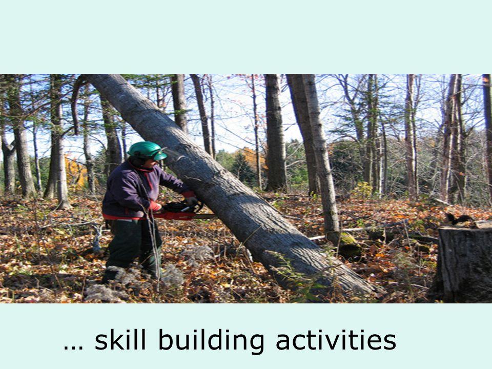… skill building activities