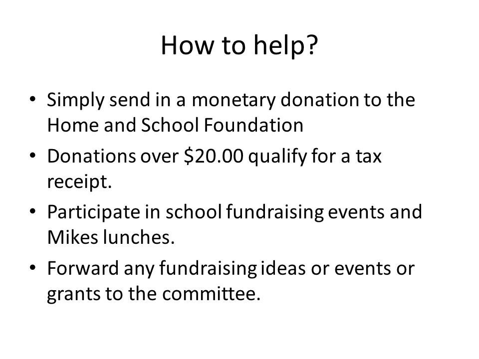 How to help.