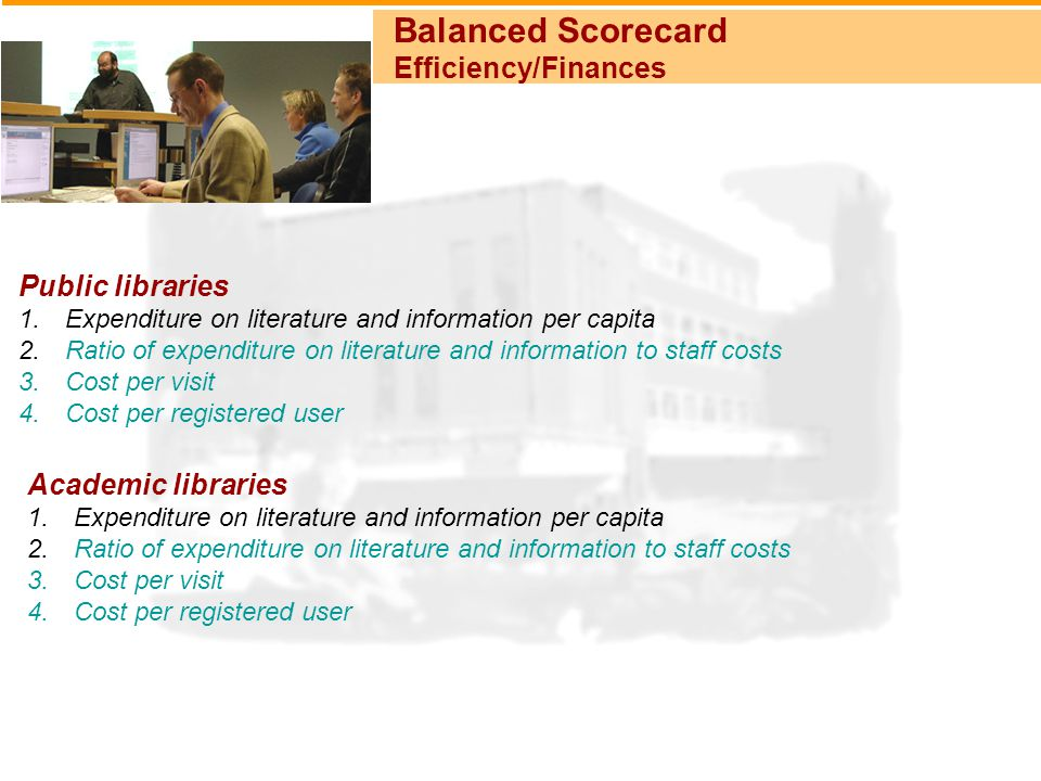 Balanced Scorecard Efficiency/Finances Public libraries 1.