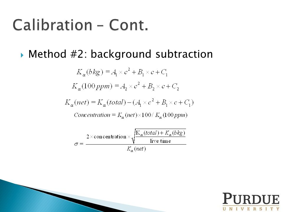  Method #2: background subtraction