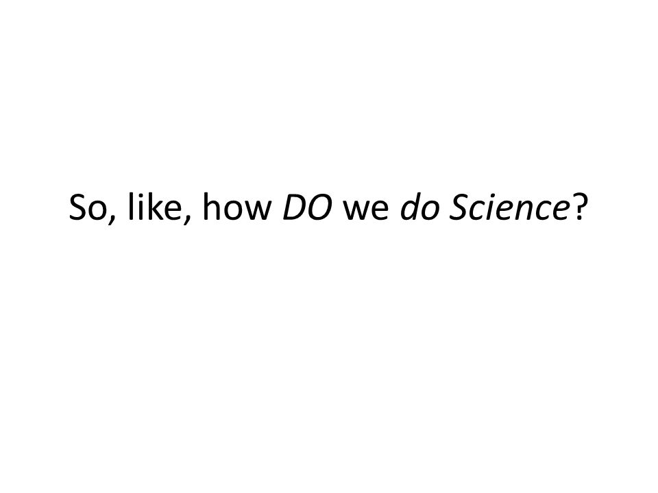 So, like, how DO we do Science? IB Biology HL