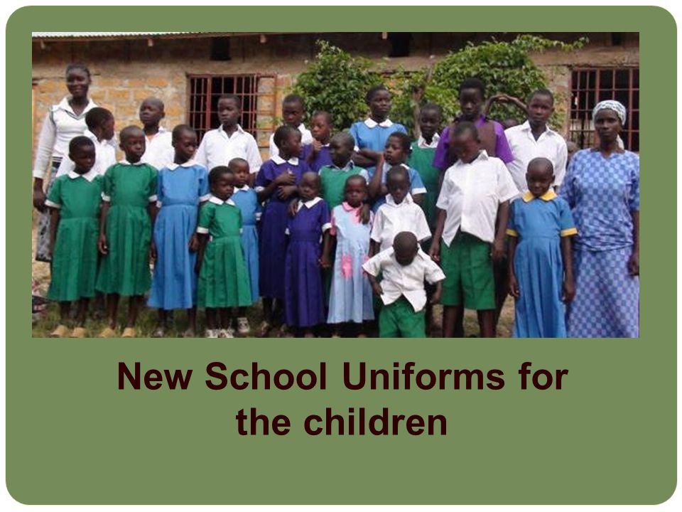 New School Uniforms for the children