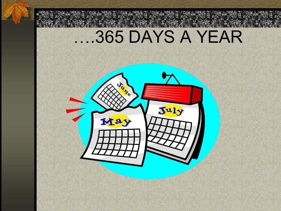 ….365 DAYS A YEAR
