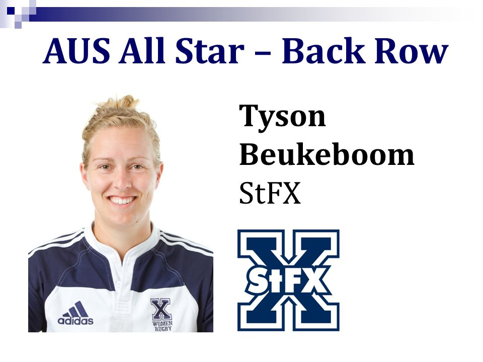 Tyson Beukeboom StFX AUS All Star – Back Row