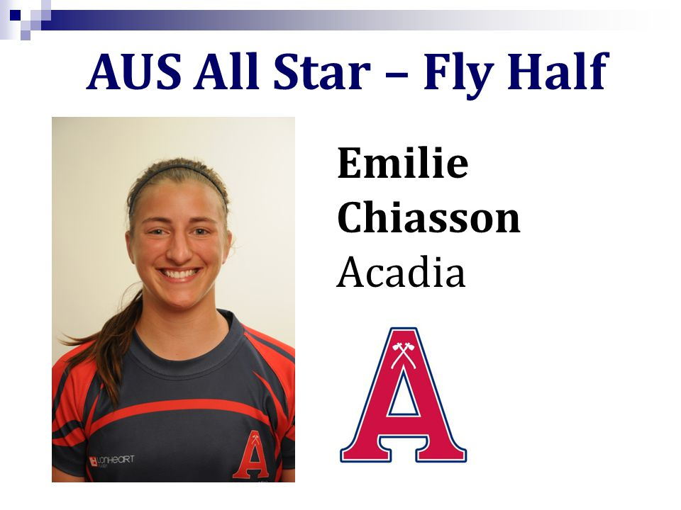 Emilie Chiasson Acadia AUS All Star – Fly Half