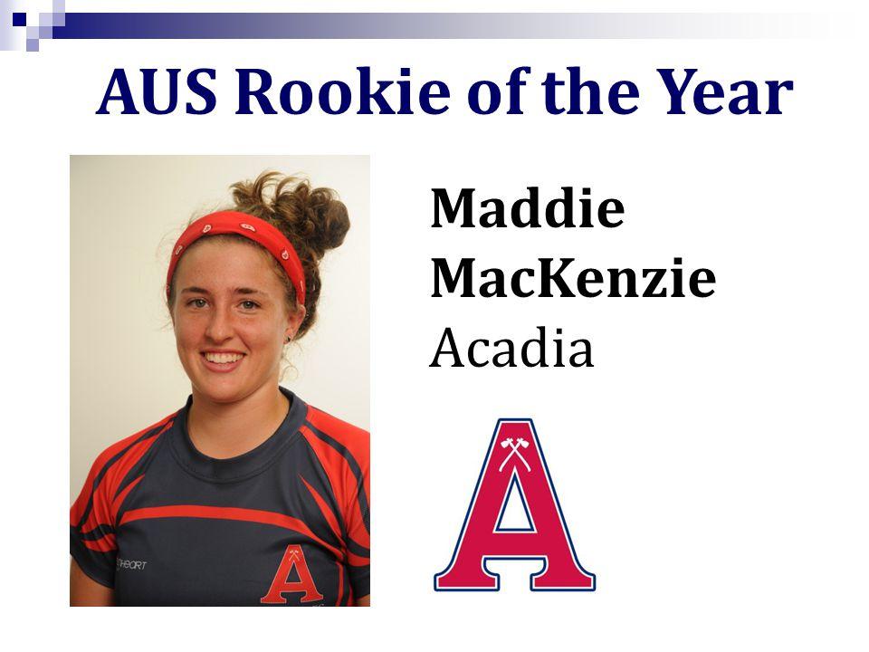 AUS Rookie of the Year Maddie MacKenzie Acadia