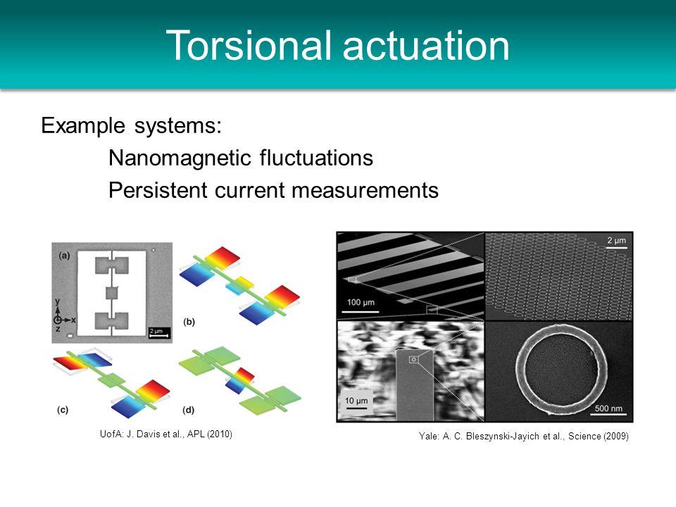 Torsional actuation UofA: J. Davis et al., APL (2010) Yale: A.