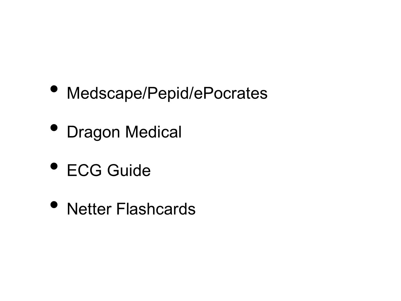 Medscape/Pepid/ePocrates Dragon Medical ECG Guide Netter Flashcards