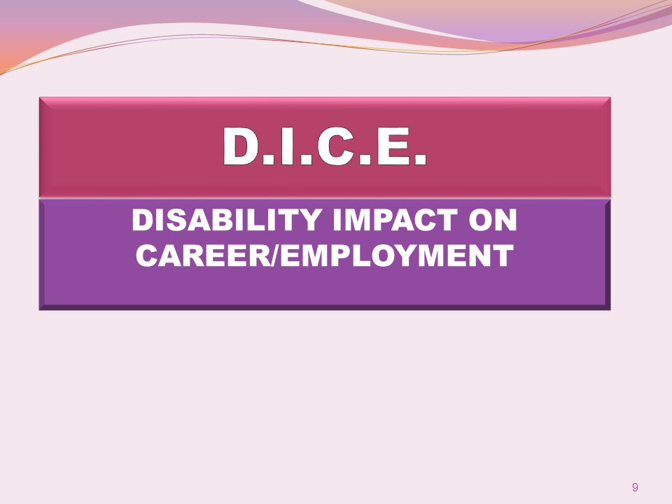 DISABILITY IMPACT ON CAREER/EMPLOYMENT 9
