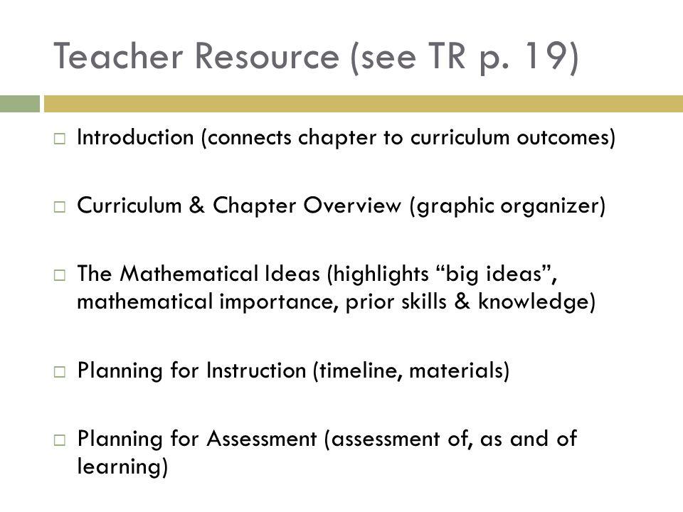 Teacher Resource (see TR p.