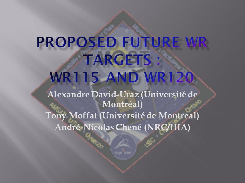 Alexandre David-Uraz (Université de Montréal) Tony Moffat (Université de Montréal) André-Nicolas Chené (NRC/HIA)