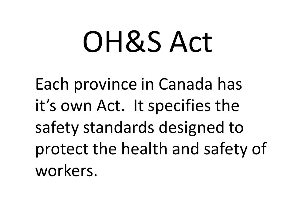 It also includes the rights and duties required of both the employers and of the workers.