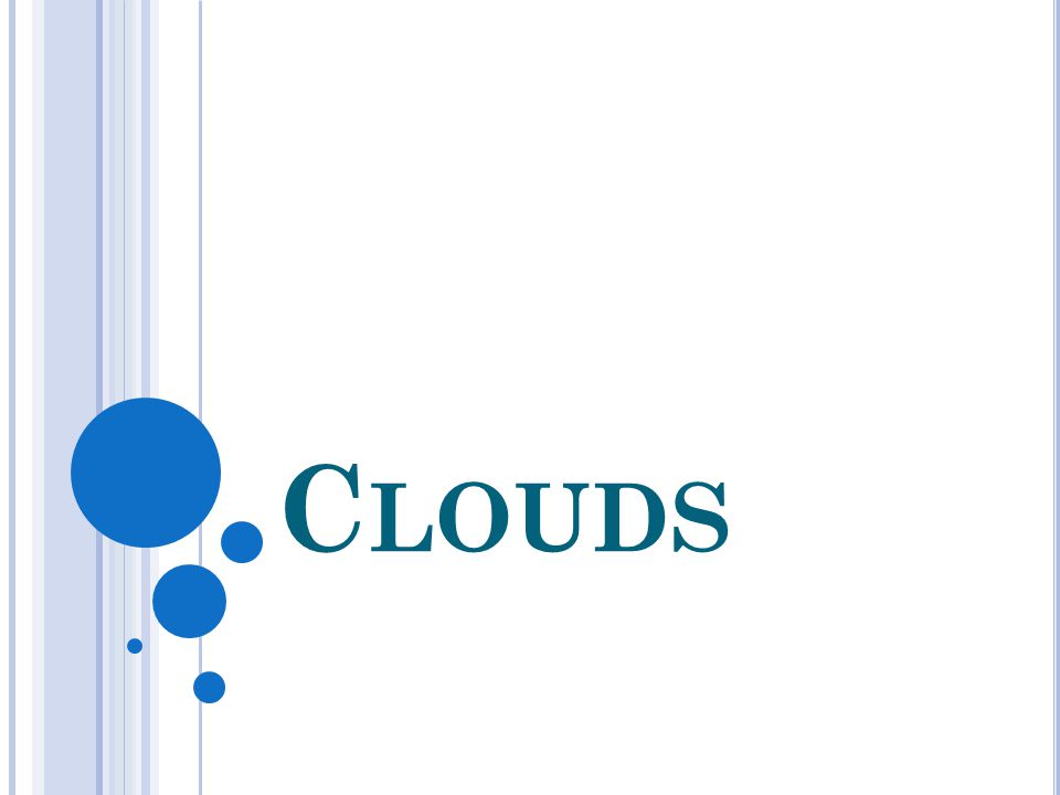 WHAT IS A CLOUD.A collection of water droplets Why White.
