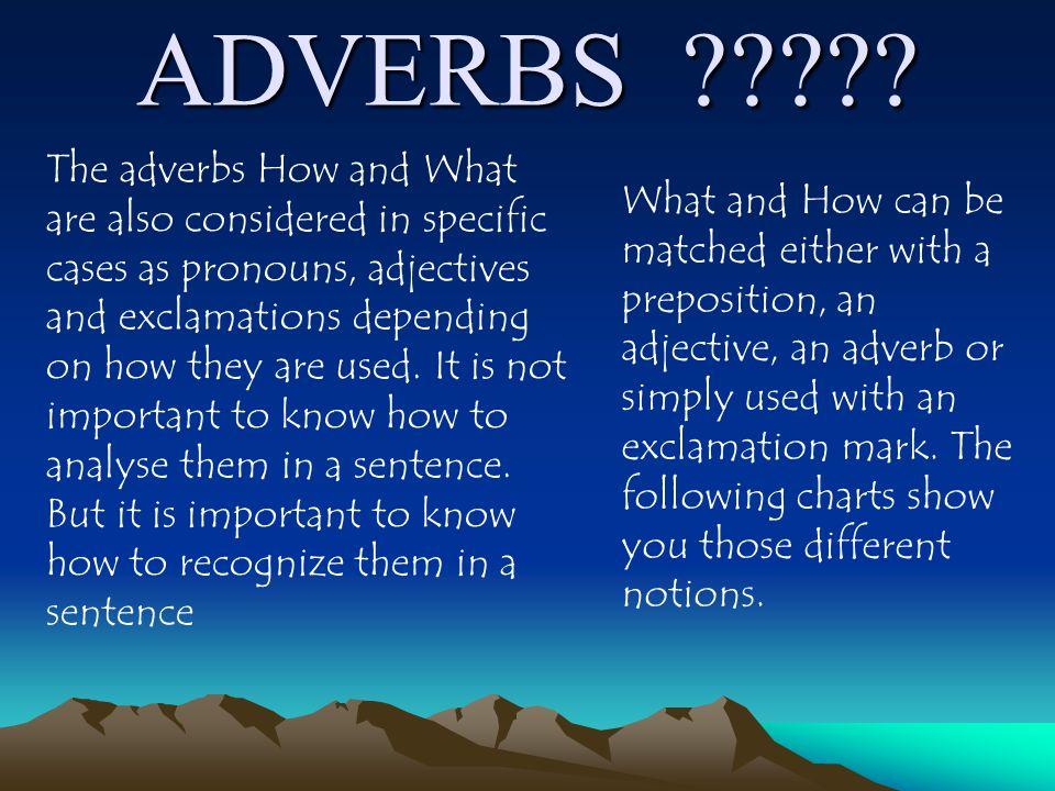 ADVERBS ????.