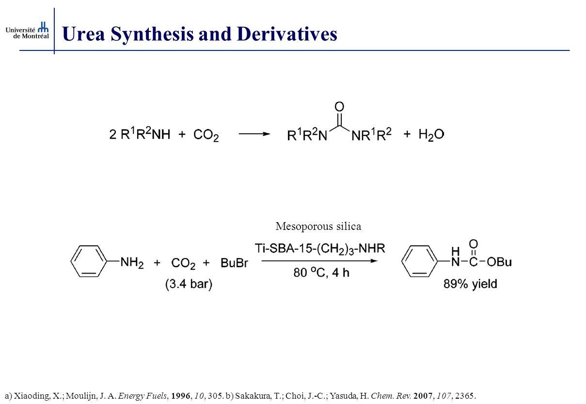 Urea Synthesis and Derivatives a) Xiaoding, X.; Moulijn, J. A. Energy Fuels, 1996, 10, 305. b) Sakakura, T.; Choi, J.-C.; Yasuda, H. Chem. Rev. 2007,