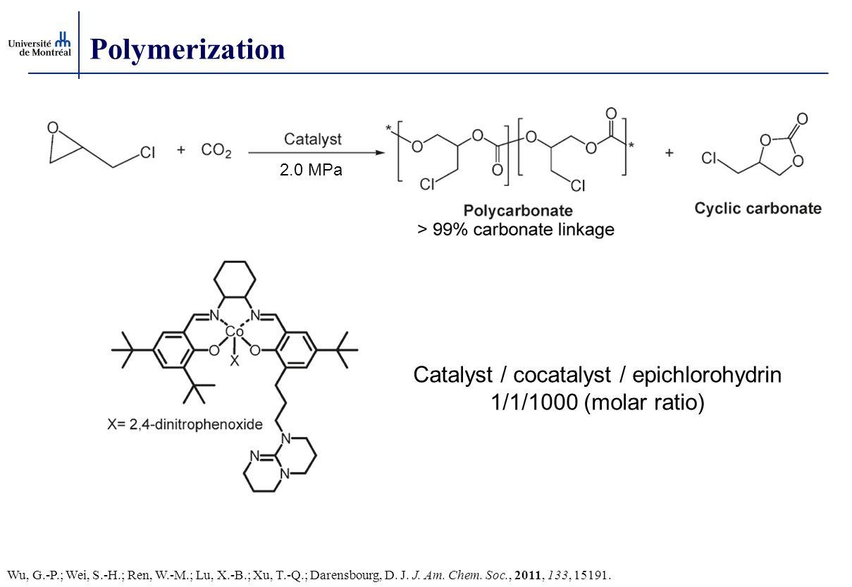 Polymerization 2.0 MPa Catalyst / cocatalyst / epichlorohydrin 1/1/1000 (molar ratio) Wu, G.-P.; Wei, S.-H.; Ren, W.-M.; Lu, X.-B.; Xu, T.-Q.; Darensbourg, D.