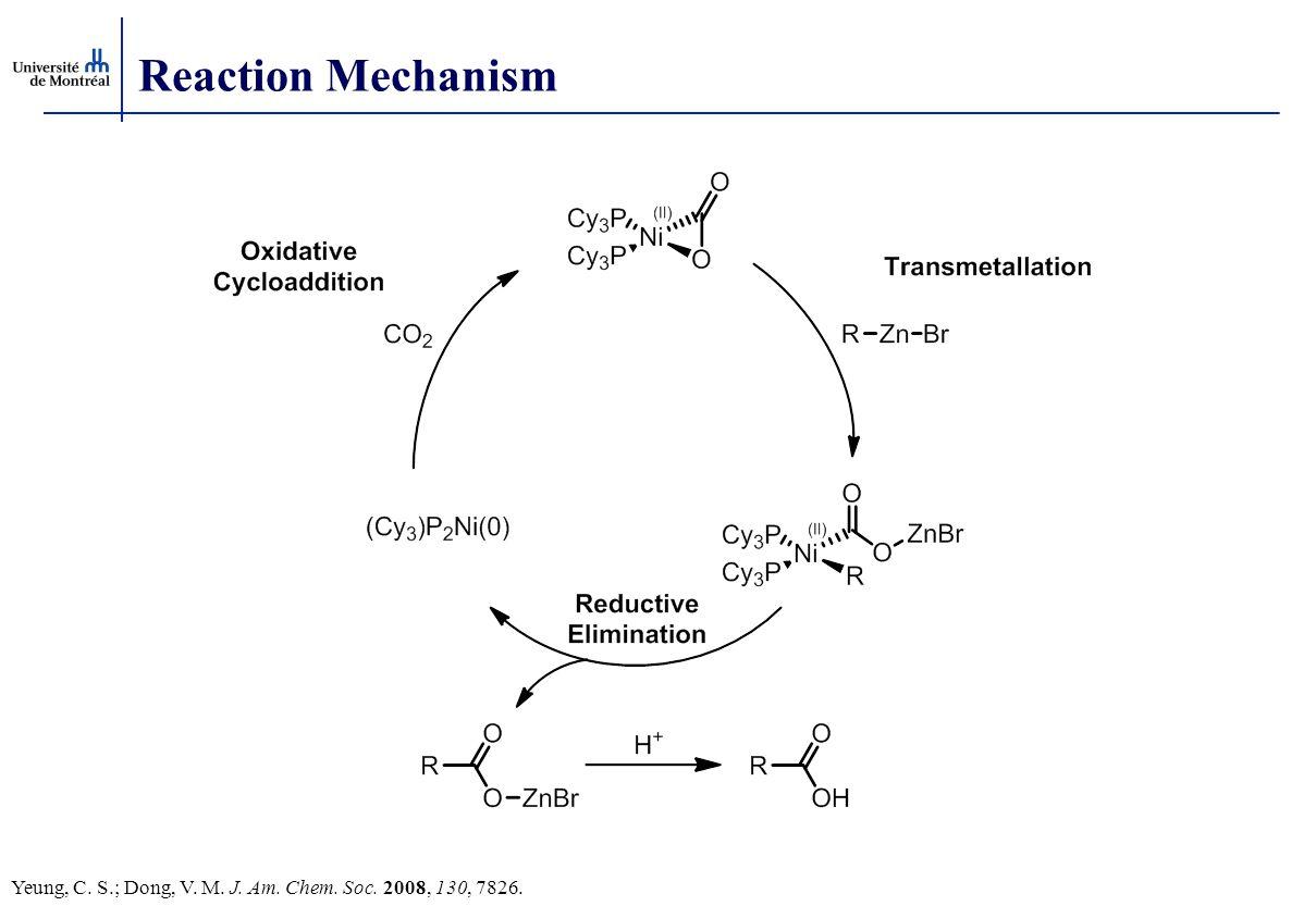 Reaction Mechanism Yeung, C. S.; Dong, V. M. J. Am. Chem. Soc. 2008, 130, 7826.