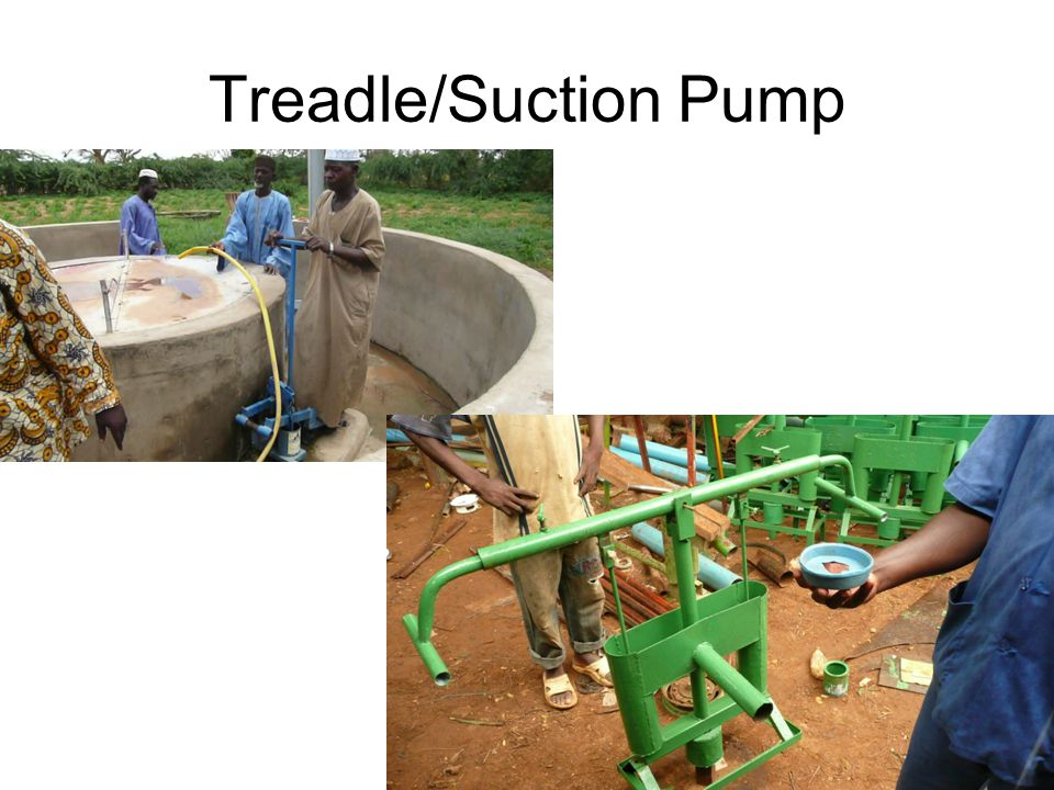 Other Pumping Systems Non-Human Powered Motorized –Diesel, Gas Windmills Electric Solar –Electric –Expensive Solar collector panels 14