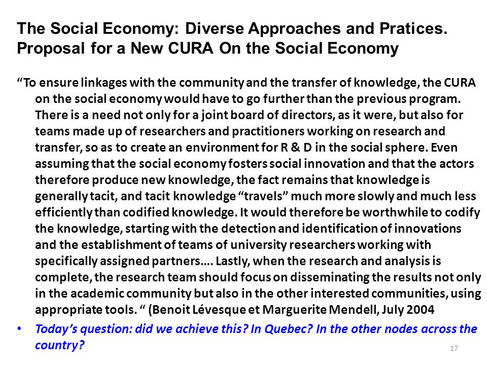 The Social Economy: Diverse Approaches and Practices.