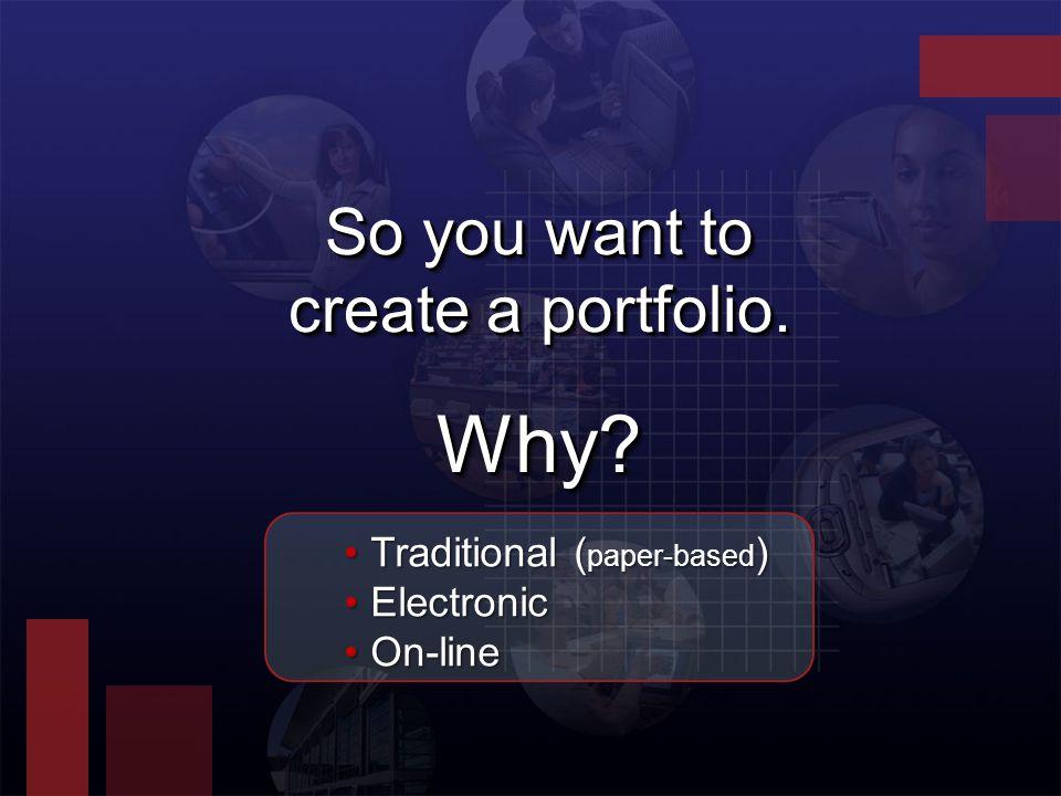How might you put your portfolio on-line?