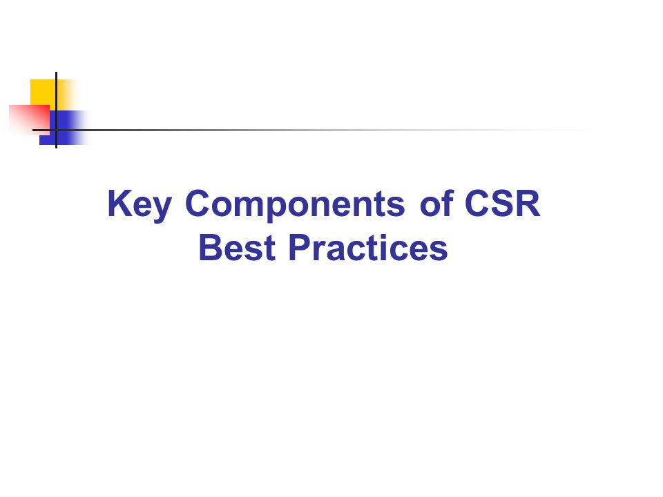 Key Components of CSR Best Practices