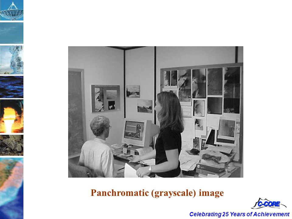 Celebrating 25 Years of Achievement Panchromatic (grayscale) image