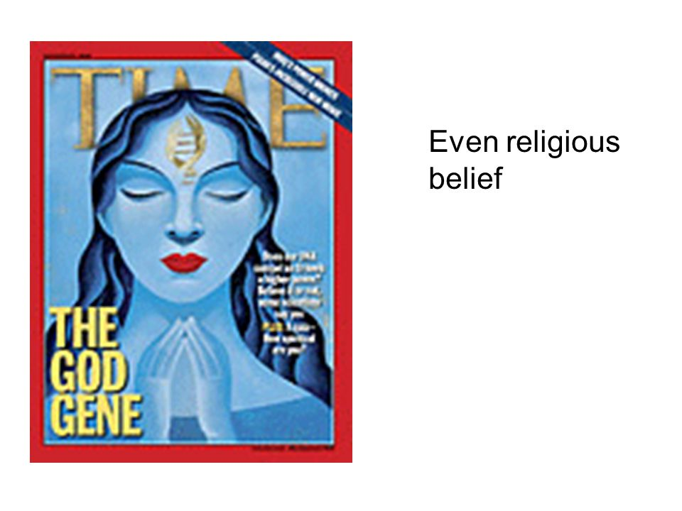 Even religious belief