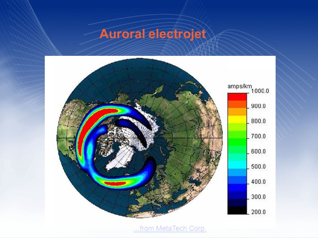 ...from MetaTech Corp. Auroral electrojet