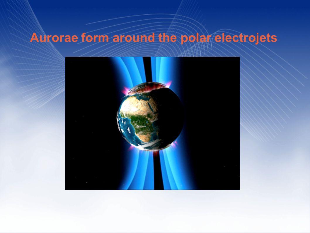 Aurorae form around the polar electrojets