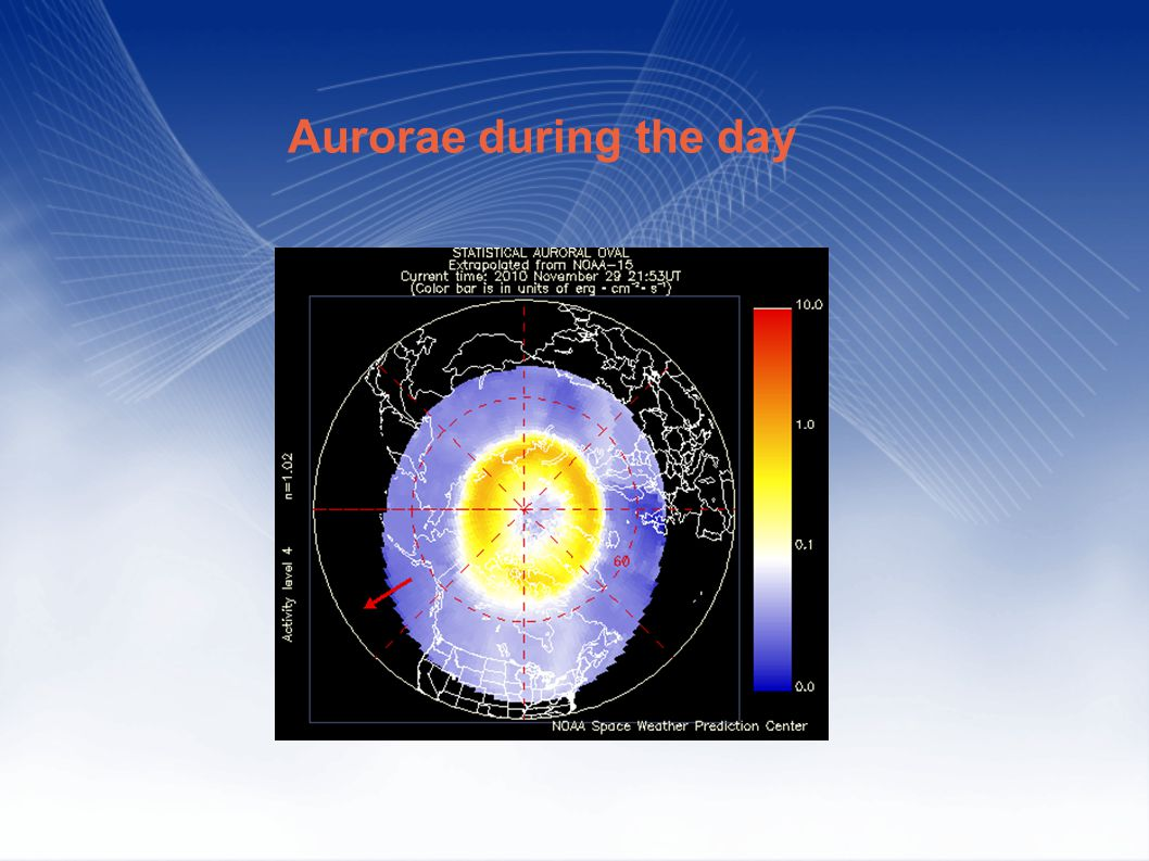 Aurorae during the day