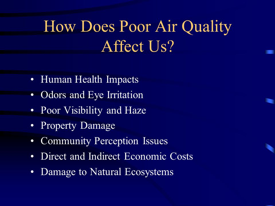 How Does Poor Air Quality Affect Us.