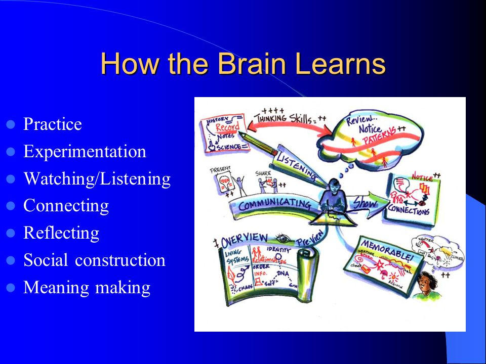Constructivism Students are more likely to gain greater understanding of and derive greater pleasure from learning when allowed to transform the learning into creative thoughts and products.