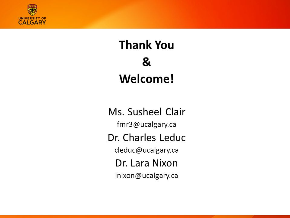Thank You & Welcome. Ms. Susheel Clair Dr.