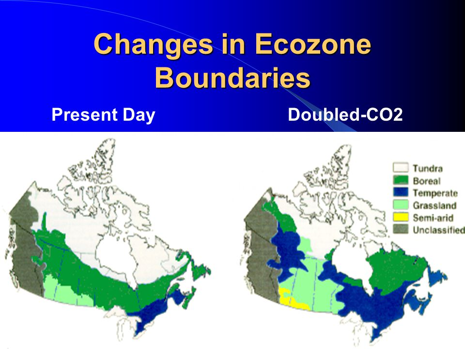 Changes in Ecozone Boundaries Present DayDoubled-CO2