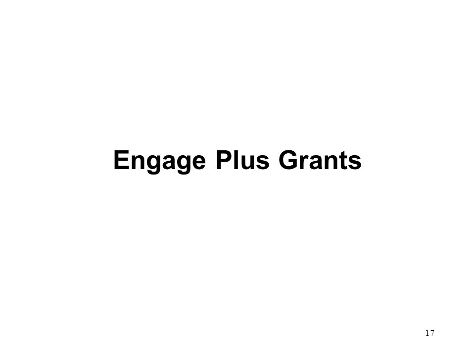 Engage Plus Grants 17