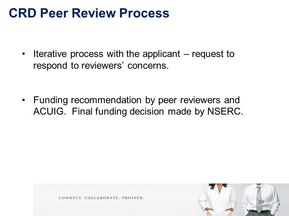 Iterative process with the applicant – request to respond to reviewers' concerns.