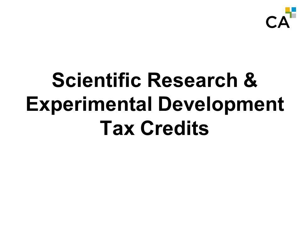 MODULE A - 0 SR&ED Tax Credits Scientific Research & Experimental Development Tax Credits