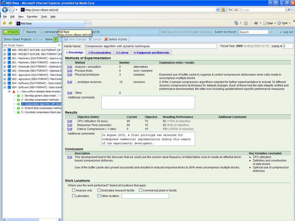MODULE B - 76 SR & ED Tax Credits Maximum Efficent Use of Knowledge