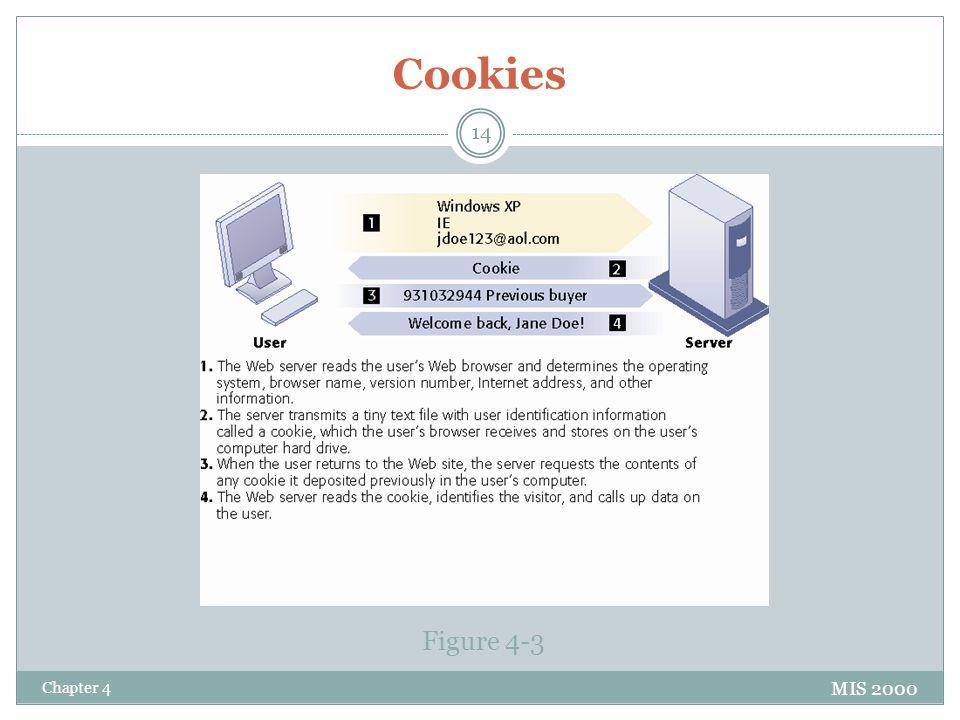 Cookies MIS 2000 Figure 4-3 Chapter 4 14