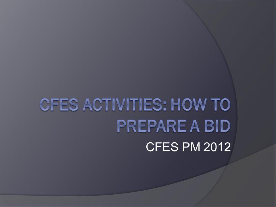 CFES PM 2012