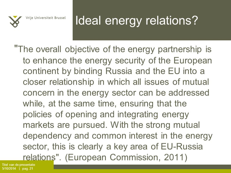 Ideal energy relations.