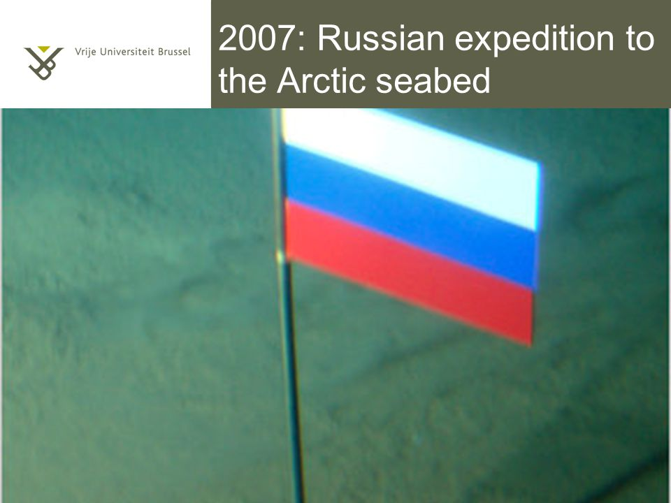 2007: Russian expedition to the Arctic seabed Titel van de presentatie 5/10/2014 | pag. 55