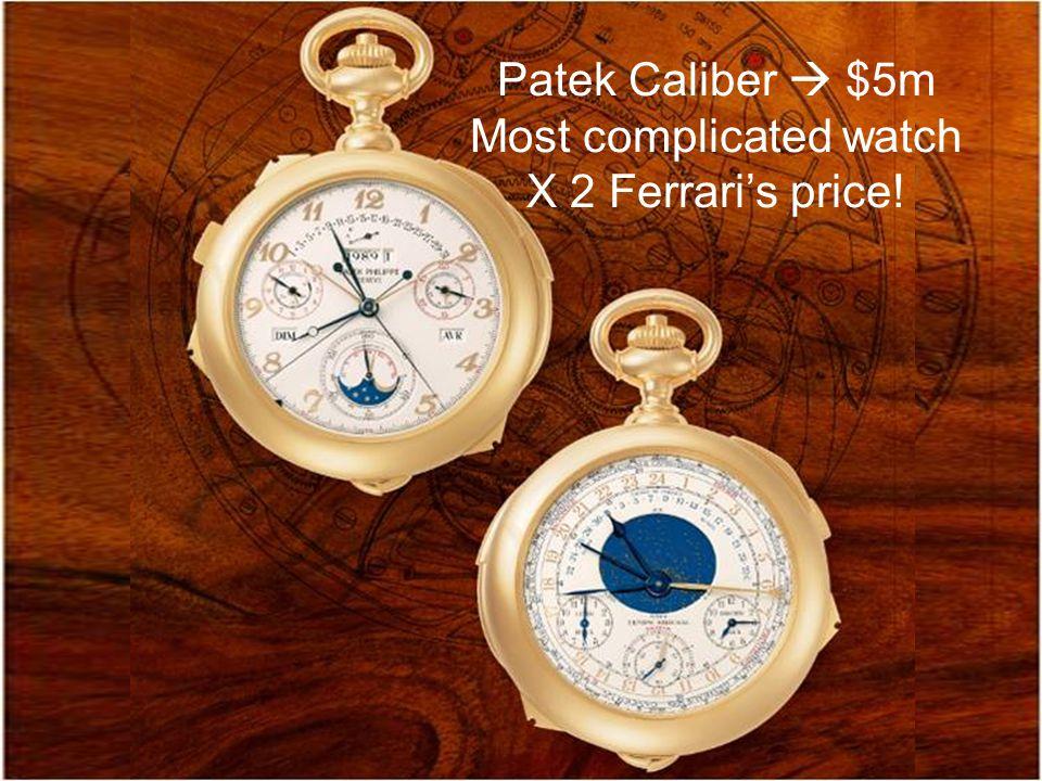 Patek Caliber  $5m Most complicated watch X 2 Ferrari's price!