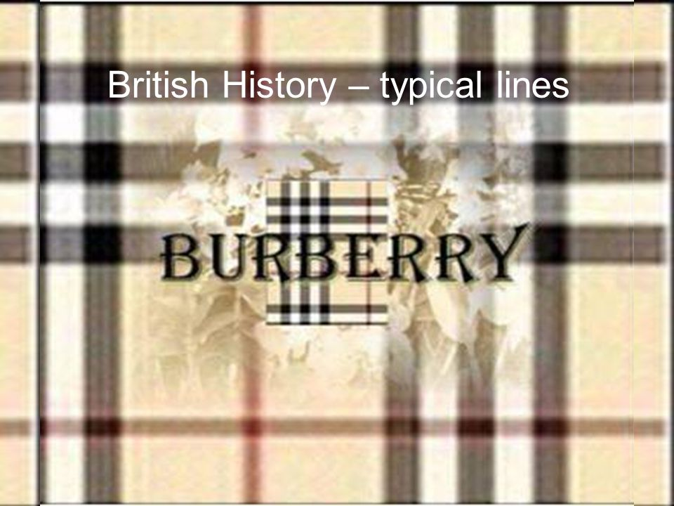 British History – typical lines