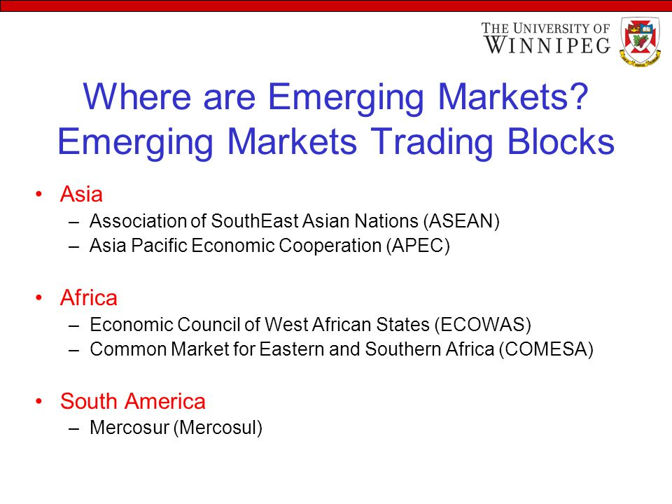Where are Emerging Markets.