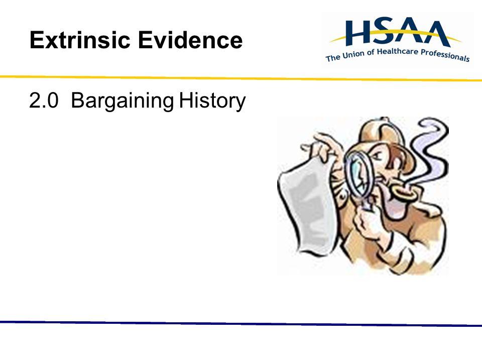 Extrinsic Evidence 2.0 Bargaining History