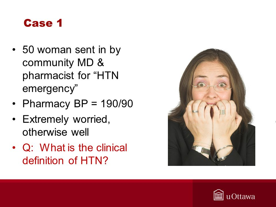 HTN in the Population vs the ED?