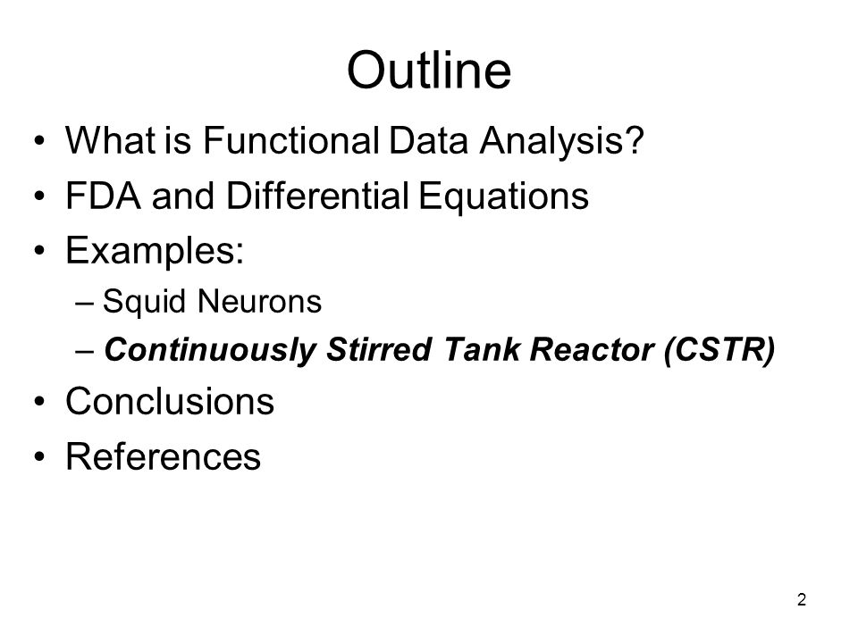 23 Conclusions R and Matlab give comparable answers R:nls has helper functions absent from Matlab:lsqnonlin Functional data analysis tools are key for –estimating derivatives and –working with differential operators
