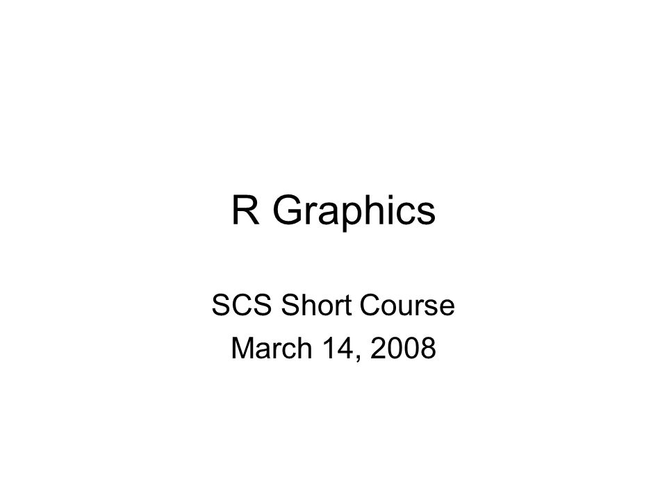 Continue with example script file: From R: > download.file( http://www.math.yorku.ca/~georges/R/R- Graphics.R, R-Graphics.R ) http://www.math.yorku.ca/~georges/R/R- Graphics.R Then load in R via File | Open script …
