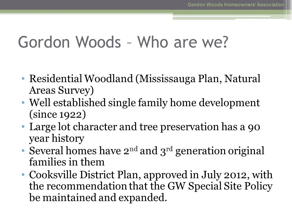 Gordon Woods – Who are we.
